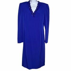 CAROLINA HERRERA Blue Eighties Vintage Shift Dress